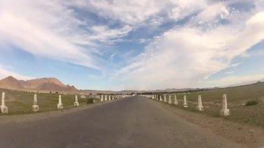 Fahren in der Mongolei — Stockvideo