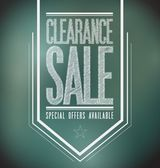 Chalkboard clearance sale poster sign banner — Stock Photo