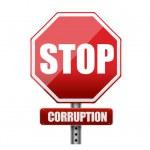 Stop corruption road sign illustration — Stock Photo #27582317