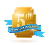 Five years anniversary shield. illustration — Stock Photo
