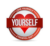 Love Yourself badge illustration — Stock Photo
