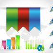 Color banners infographic chart. design graphics — Stock Photo