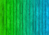 緑と青の木製パネルのテクスチャの背景 — ストック写真