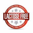 Stock Photo: Lactose free food seal illustration