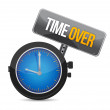 Stock Photo: Time over concept illustration design