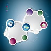 Communication circle colorloop business, template — Stock Photo