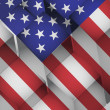 3d cubes usa american flag illustration — Stock Photo