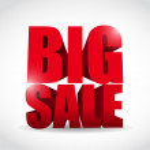 Big sale word illustration design — Stock Photo