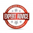 Expert advice seal illustration — 图库照片
