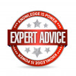 Expert advice seal illustration — Foto de Stock