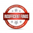 Stock Photo: Insufficient funds seal illustration design
