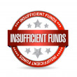 Insufficient funds seal illustration design — Foto Stock #27903147