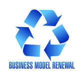 Business model renewal illustration — Stock Photo