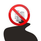 Stop oil spills illustration design over — Stock Photo