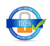 Security concept with metal icon. — Stock Photo