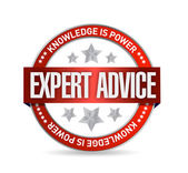 Expert advice seal illustration — Stock Photo