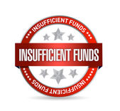 Insufficient funds seal illustration design — Stock Photo