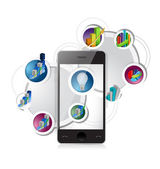 Technology business concept diagram — Stock Photo