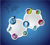 Business idea concept diagram illustration network — Stock Photo