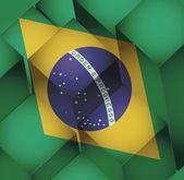 Brazil. brazilian 3d cubes flag illustration — Stock Photo