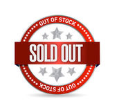 Sold Out Stamp seal illustration design — Stock Photo