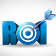 Return on investment business concept. target — Stock Photo
