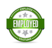 Employed Stamp seal illustration design — Stock Photo