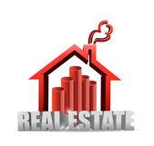 Fastigheter hus graph-diagram — Stockfoto