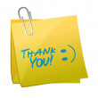 Thank you post illustration — Stock Photo