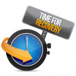 Time for recovery concept illustration — Stock Photo