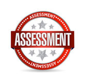 Assessment seal stamp illustration — Stock Photo