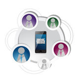 Technology social media network friends diagram — Stock Photo