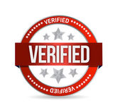 Verified seal stamp illustration — Stock Photo
