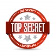 Top secret seal stamp illustration design — Stock Photo