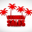 Summer sale sign illustration design — Stock Photo