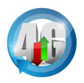 4g connection. illustration design over — Stock Photo