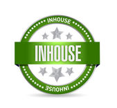 Inhouse seal stamp illustration design — Stock Photo