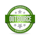 Outsource seal stamp illustration design — Stock Photo