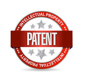 Patent seal stamp illustration design — Stock Photo