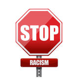 Stop racism road sign illustration design — Stock Photo