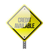 Credit available road sign illustration design — Stock Photo