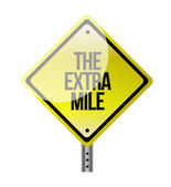 The extra mile road sign — Stock Photo