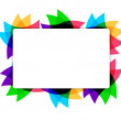 Colorful leaves text frame illustration — Stock Photo