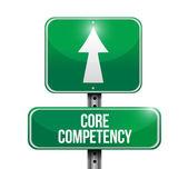 Competentie weg teken illustratie kernontwerp — Stockfoto