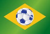Brazil soccer ball flag illustration design — Stock Photo