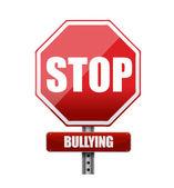 Stoppa mobbning tecken illustration design — Stockfoto