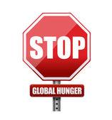Stop global hunger sign illustration — Stock Photo