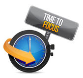 Time to focus concept illustration — Stock Photo