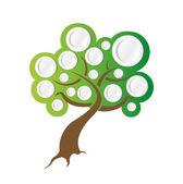 Tree illustration ready for info graphics. — Stock Photo