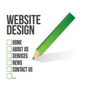 Web design case à cocher sélection illustration — Photo